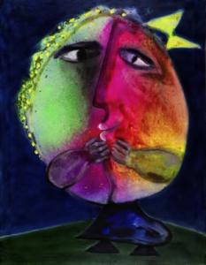 mujer luna