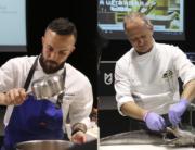 Iván Domínguez y Xosé Cannas en el la Feria Gastronómica Cotopaxi