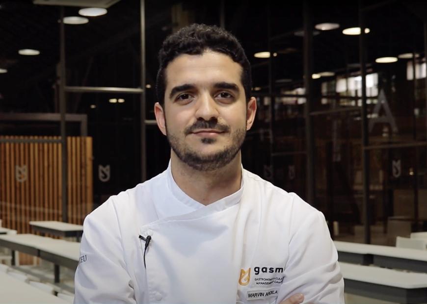 Marvin Ardila, alumno de Grado en Gastronomía
