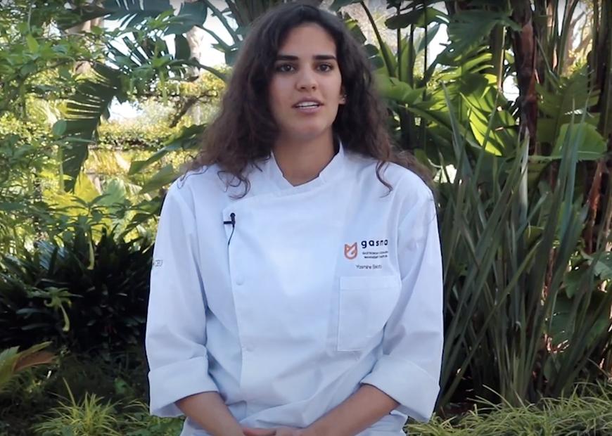 Yasmine El Mekati, alumna de Grado en Gastronomía