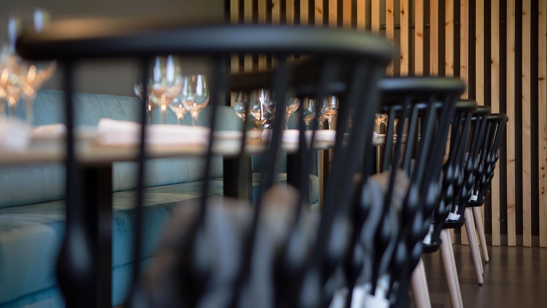 Interior restaurante gastronómico Vidó en Gasma