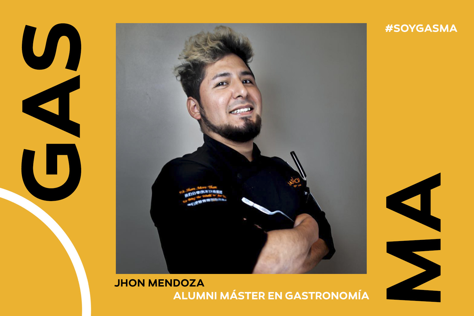 Jhon Mendoza, alumni de Gasma